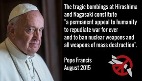 Pope on Hiroshima Day